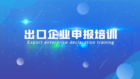 出口企业申报培训(新)